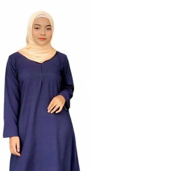 BLOUSE MUSLIMAH - DARK BLUE - Aiman Collection