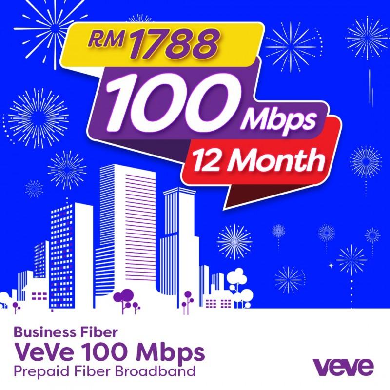 VeVe 100 Mbps Business Fibre (12 Month)