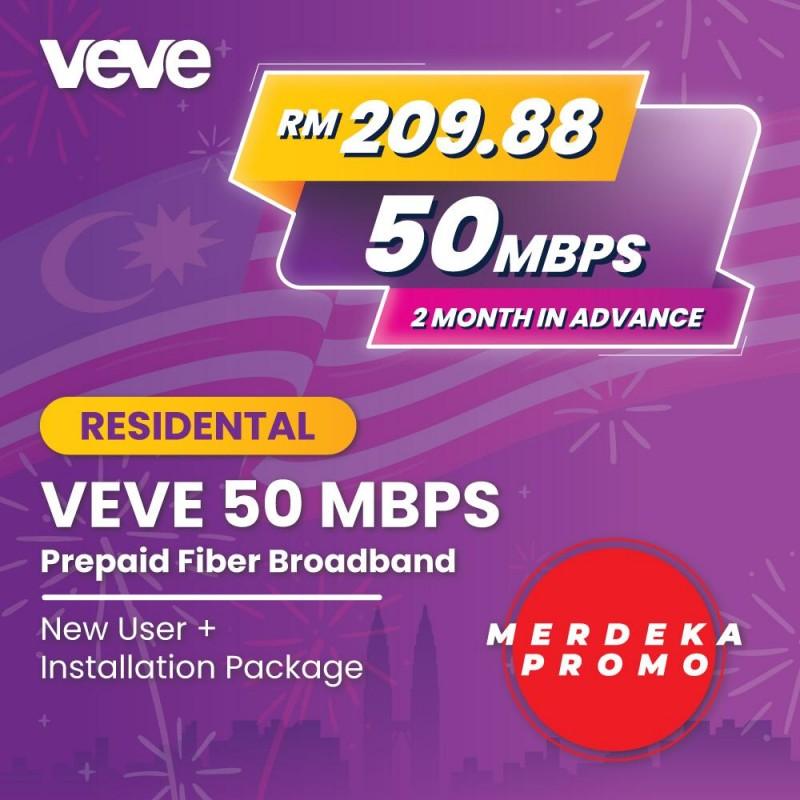 MERDEKA PROMO VEVE 50Mbps New User + Free Installation Package