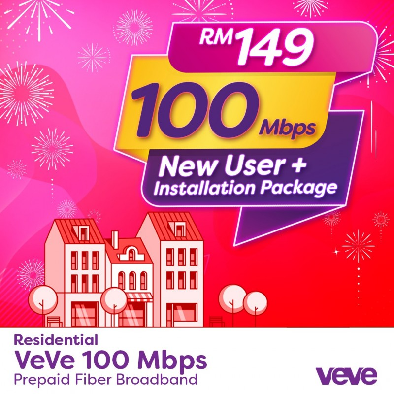 PROMO VeVe 100Mbps New User + Free Installation Package