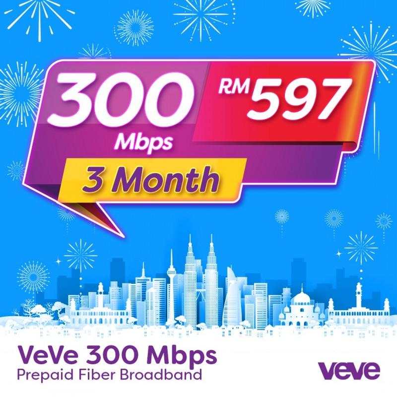 VEVE 300 Mbps Home Fibre (3 Months)