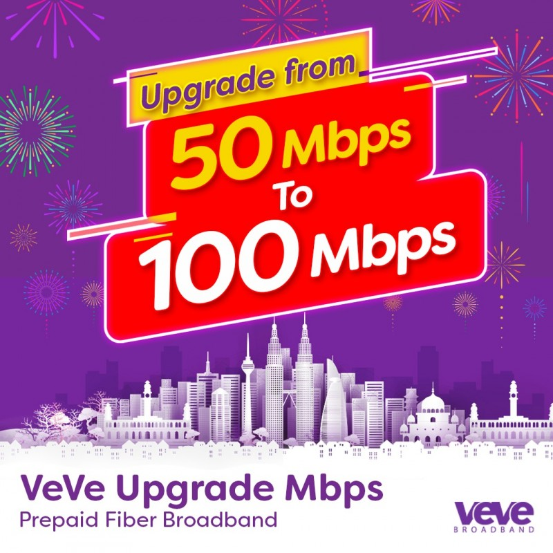 VeVe Home Upgrade from 50 Mbps to 100 Mbps (One Month)