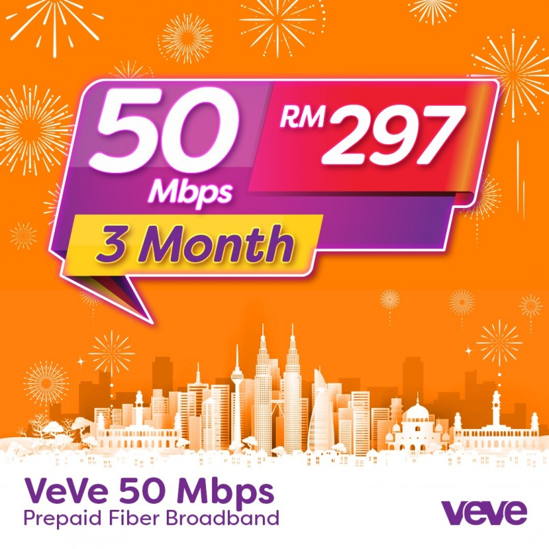 VeVe 50 Mbps Home Fibre (3 Month)