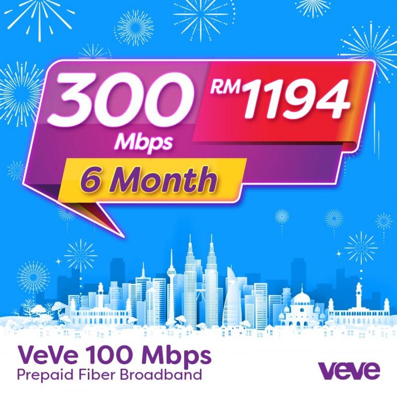 VEVE 300 Mbps Home Fibre (6 Months)