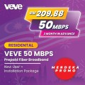 MERDEKA PROMO VEVE 50Mbps New User + Free Installation Package - VEVE