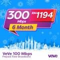 VEVE 300 Mbps Business Fibre (6 Months) - VEVE