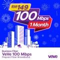 VeVe 100 Mbps Business Fibre (1 Month) - VEVE