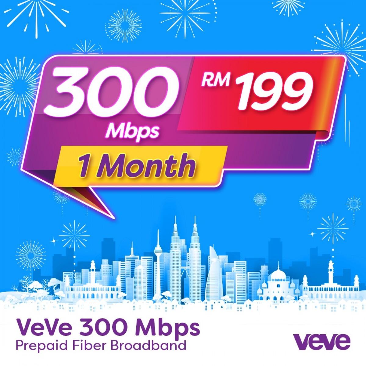 VEVE 300 Mbps Home Fibre (1 Months) - VEVE