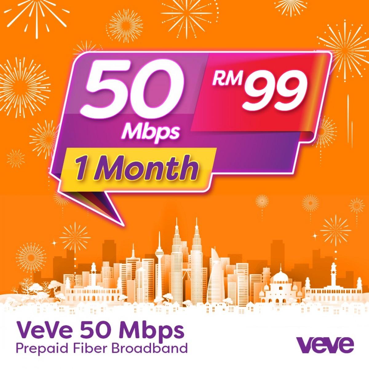 VeVe 50 Mbps Home Fibre (1 Month) - VEVE