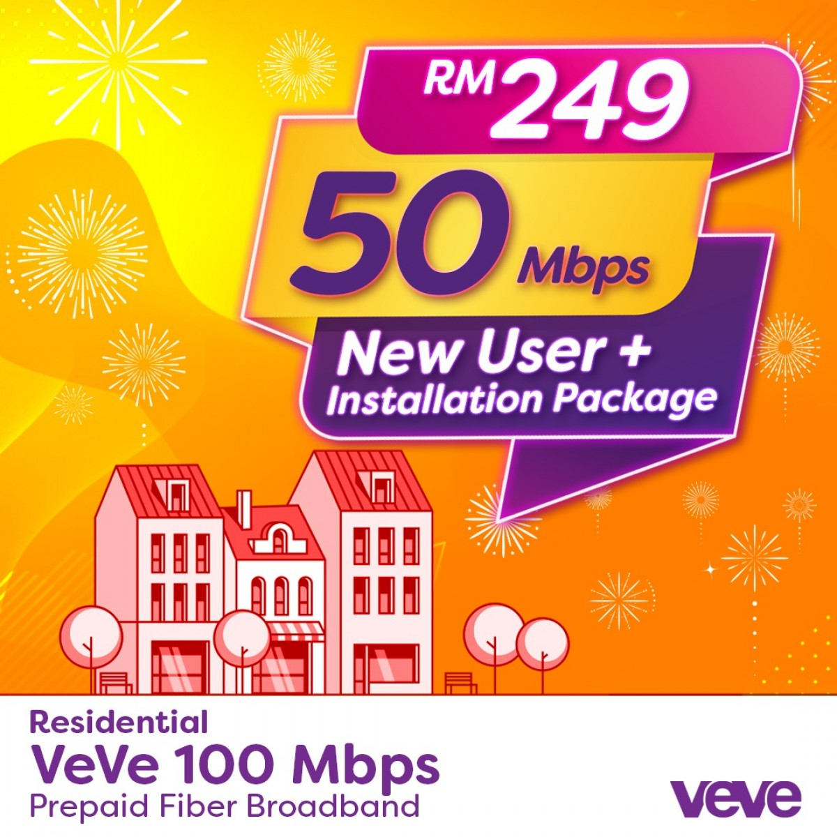 PROMO VEVE 50Mbps New User + Free Installation Package - VEVE