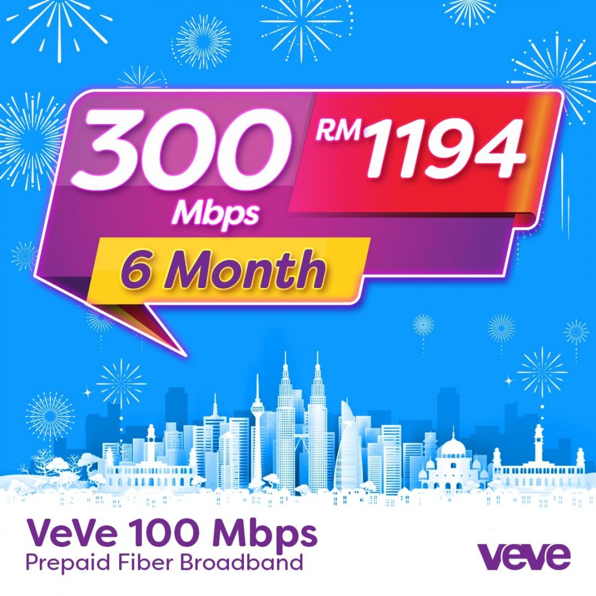 VEVE 300 Mbps Home Fibre (6 Months) - VEVE