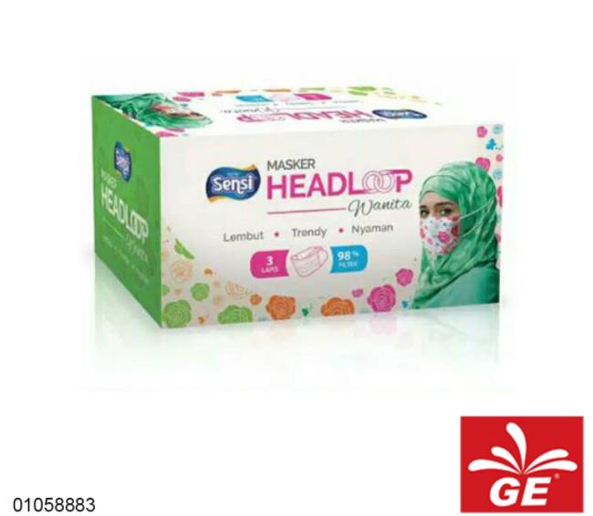 Masker Medis SENSI Headloops Mask 3Ply Bermotif 40pcs 01058883