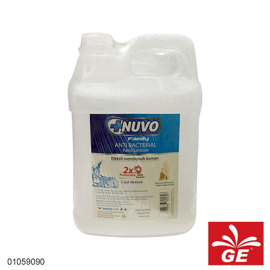 Hand Sanitizer NUVO Cool Breeze 4L 01059090