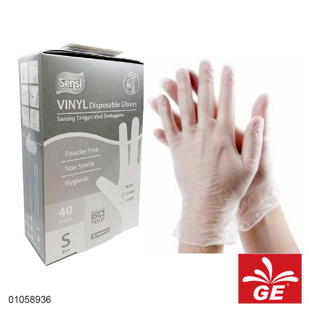 Sarung Tangan Vinyl SENSI S40 Disposable Gloves 01058936