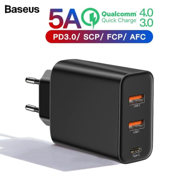 Adaptor BASEUS Charge 60w Hitam 21000337