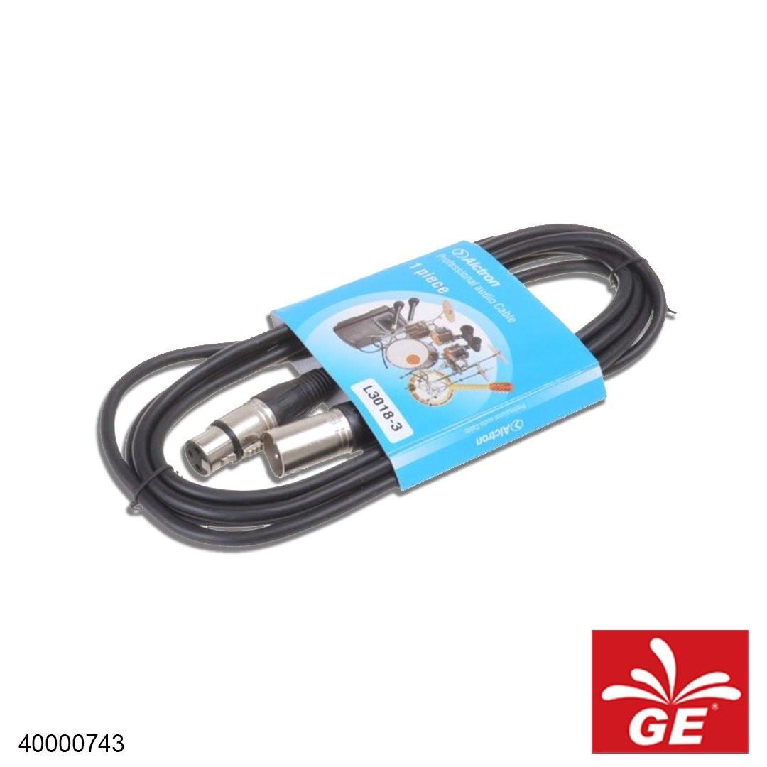 Kabel Audio ALCTRON L3018-3 XLR 3M 40000743