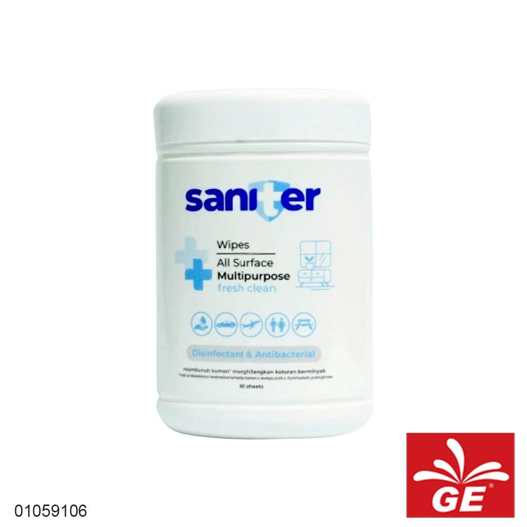 Tissue SANITER Wipes All Surface Multipurpose Botol 01059106