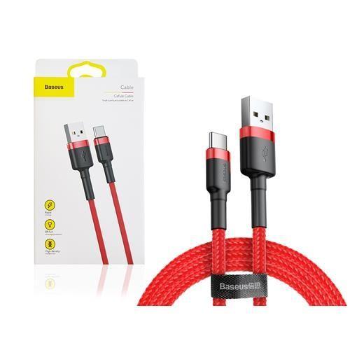 Kabel Data BASEUS Cafule Type-C 1m Merah 40001311