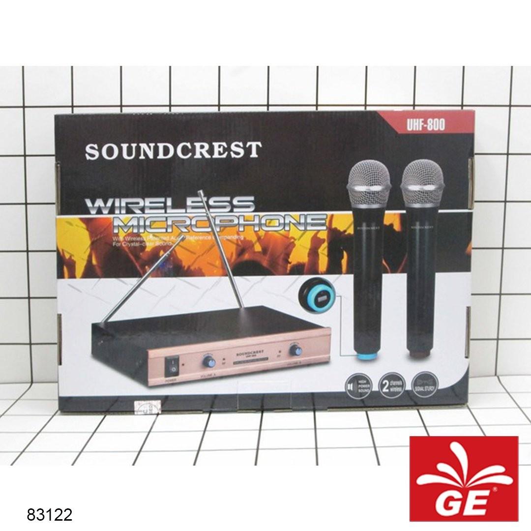 Mikrofon Wireless SOUNDCREST UHF-800 1 Clip On 83122