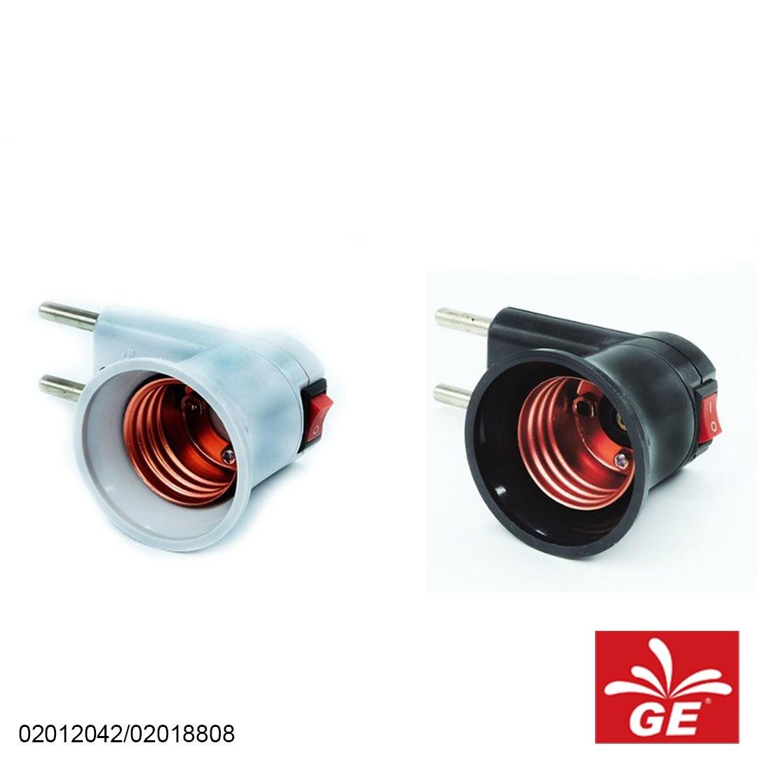 Holder Lampu MEET M-632 Steker Model Colok Putih/Hitam 02012042