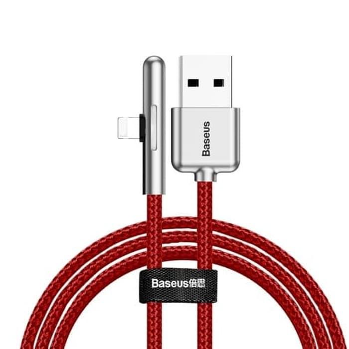 Kabel Data Lightning BASEUS Game Lampu Warna-Warni Merah 40001301