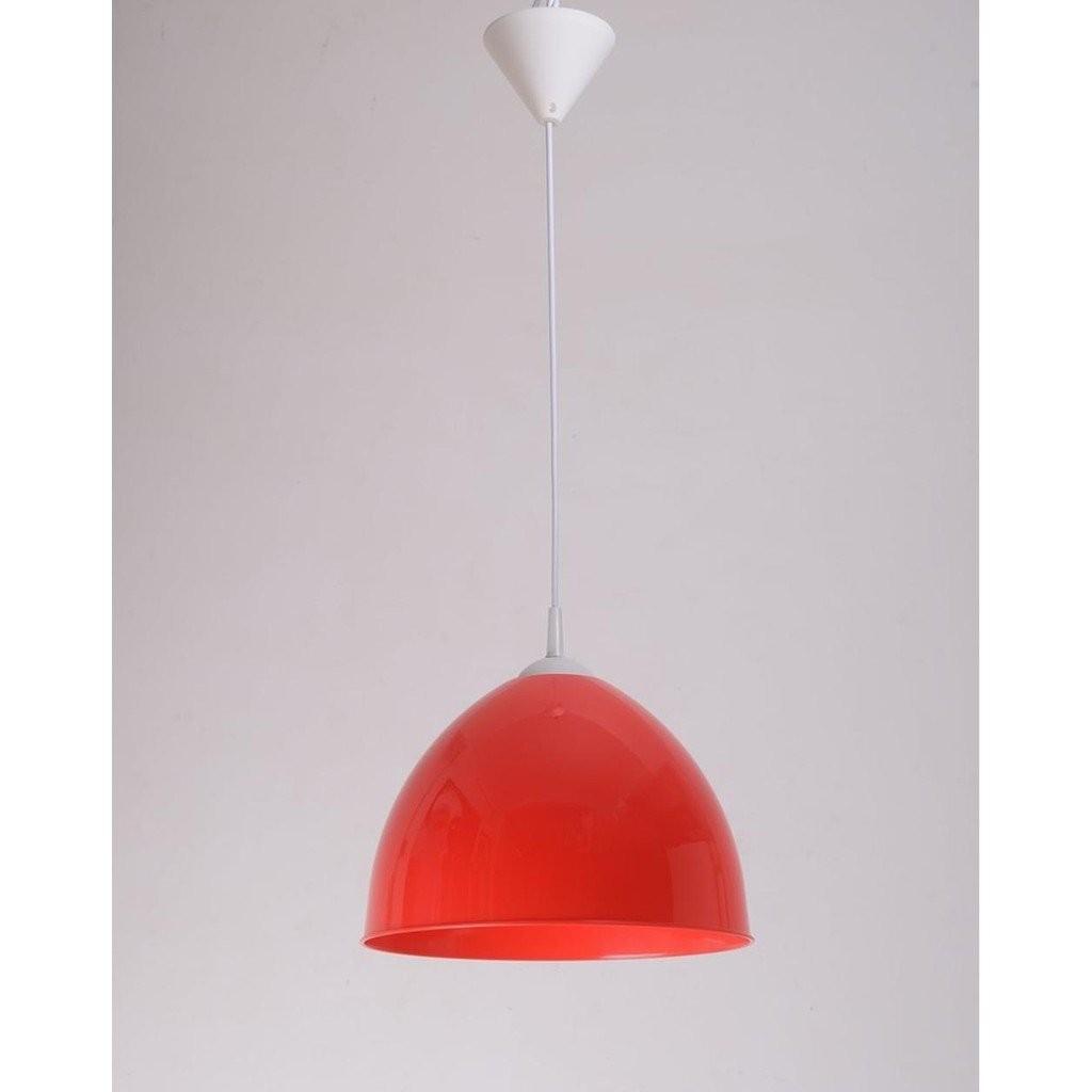 Kap Lampu LARKIN Bella Plastik 305mm E27 1m Merah/Hitam