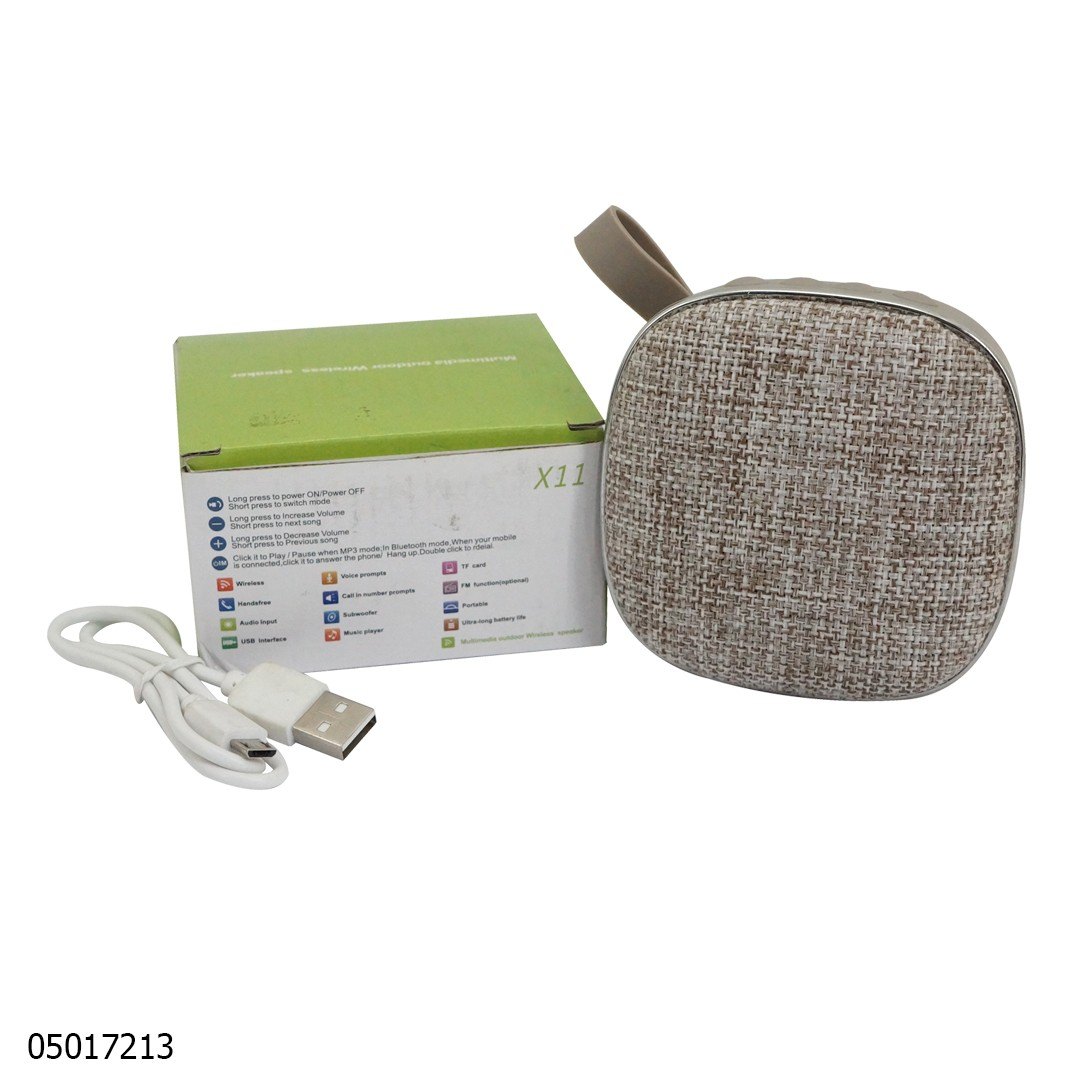 Speaker X11 Mini Bluetooth Abu-Abu 05017213