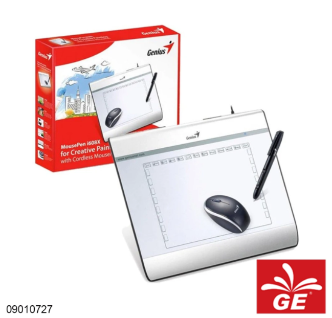 Pen Tablet GENIUS MOUSE PEN i608X Dengan Mouse/Pen Tanpa Kabel