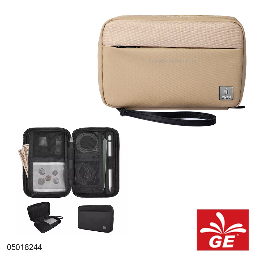 Tas Kabel Charger WIWU Pouch Solo Coklat 05018244