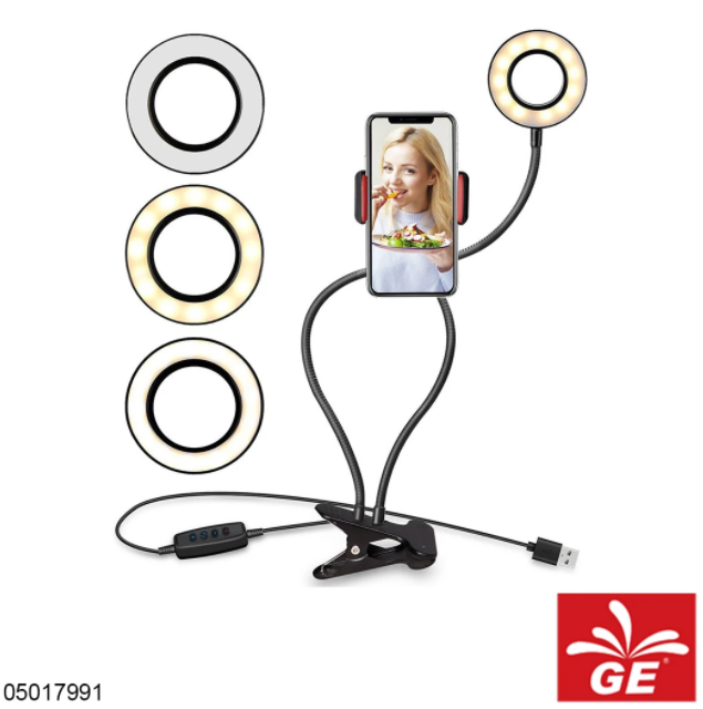 Lampu LED Selfie Ring 2in1 Professional Live Stream 05017991