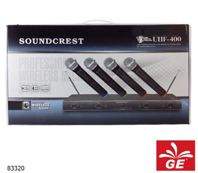 Mikrofon Wireless SOUNDCREST UHF-400 83320