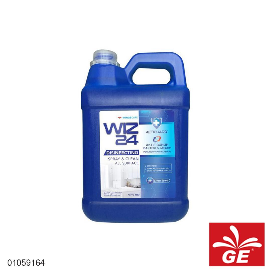 Disinfektan Refill WIZ24 Clean Scent 4L 01059164