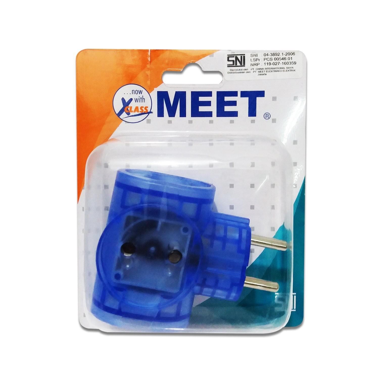 Steker Colokan Universal MEET M-818 3 Lubang 02018869