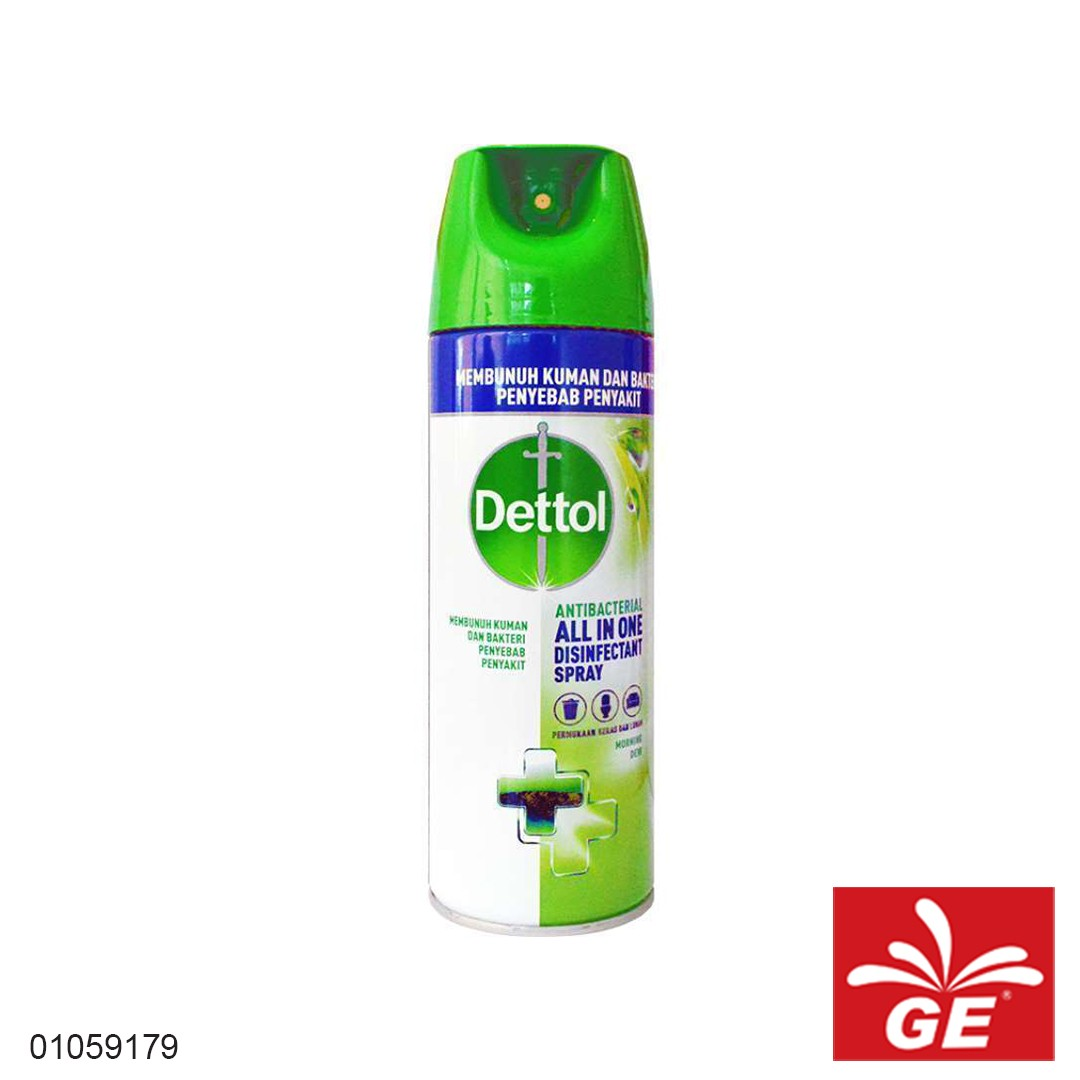 Disinfektan Spray DETTOL Anti Bacterial MorningDew 450ml 01059179