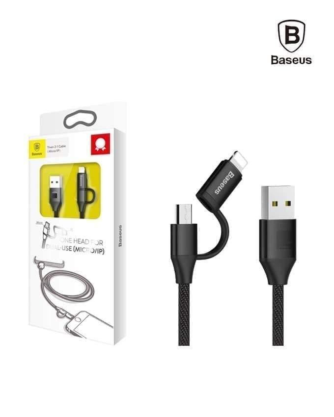 Kabel Data BASEUS Yiven Micro+Lightning 1M Hitam 40001300