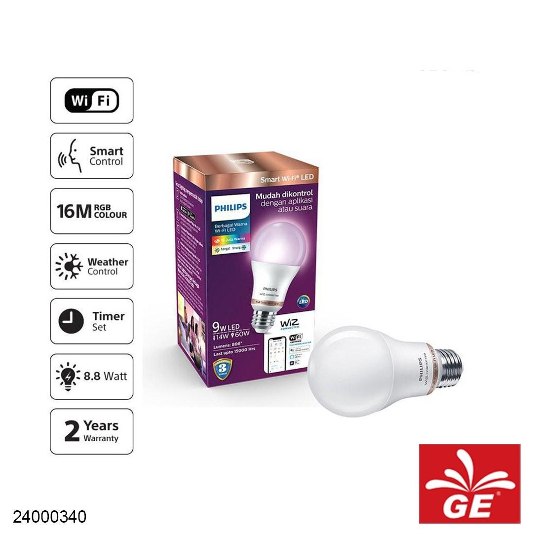 Lampu Bohlam LED PHILIPS Smart WiZ Connected E27 9W 16 Juta Warna