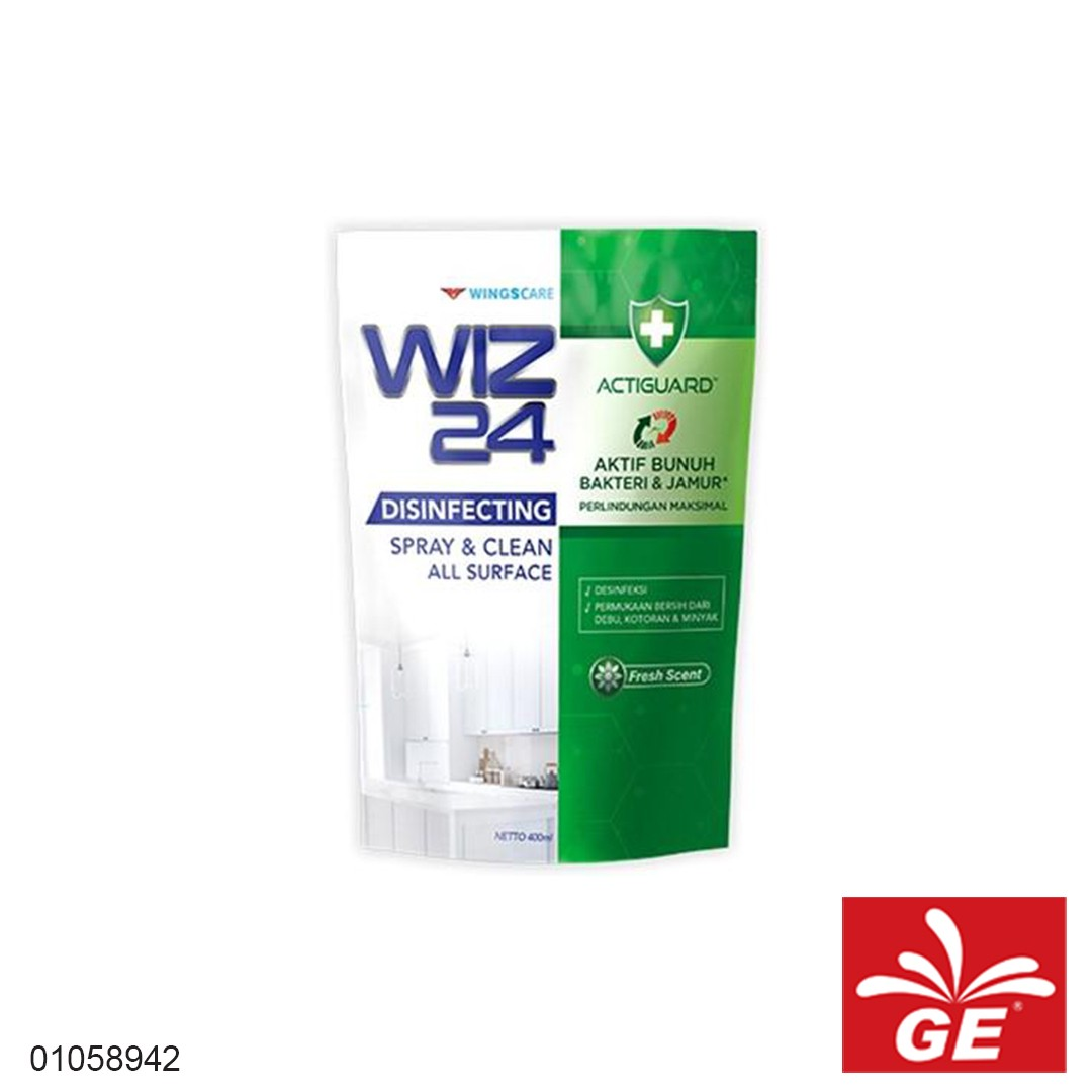 Disinfektan Refill WIZ24 Fresh Scent 400ml 01058942