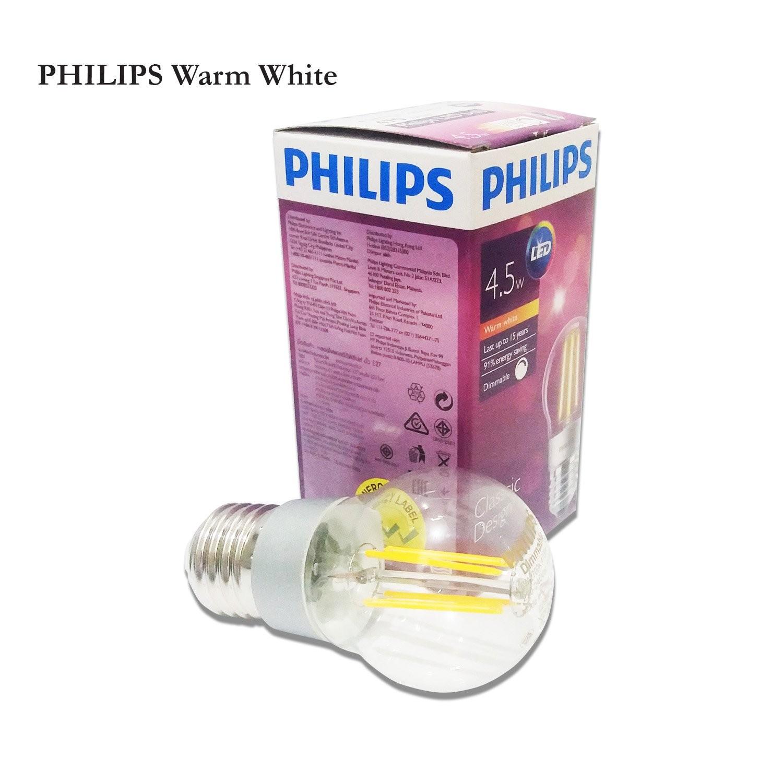 Lampu Bohlam LED PHILIPS Bulb Classic Design Warm White 4.5W