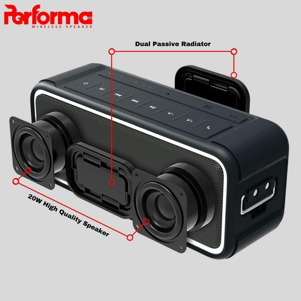 Speaker Bluetooth PERFORMA PF-8 20w Waterproof Hitam 05017421