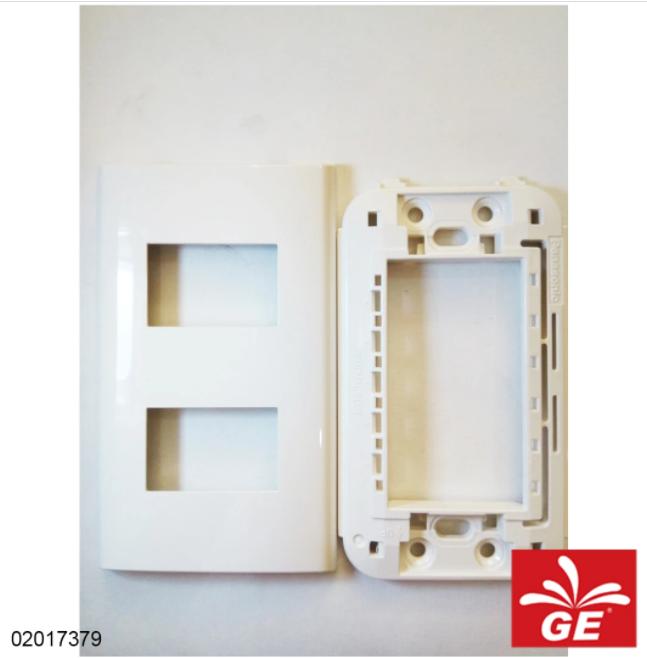 Plate Saklar PANASONIC WEHJ6802W 1 Gang 2 Devices 02017379