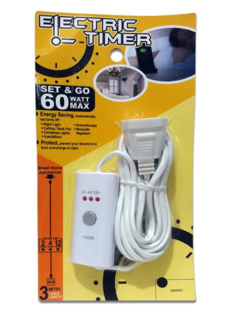 Kabel Electric Timer NIGA 60W 3M 02040972