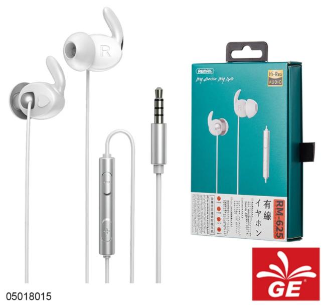 Earphone REMAX RM-625 Hi-Res Audio For Calls & Music 05018015