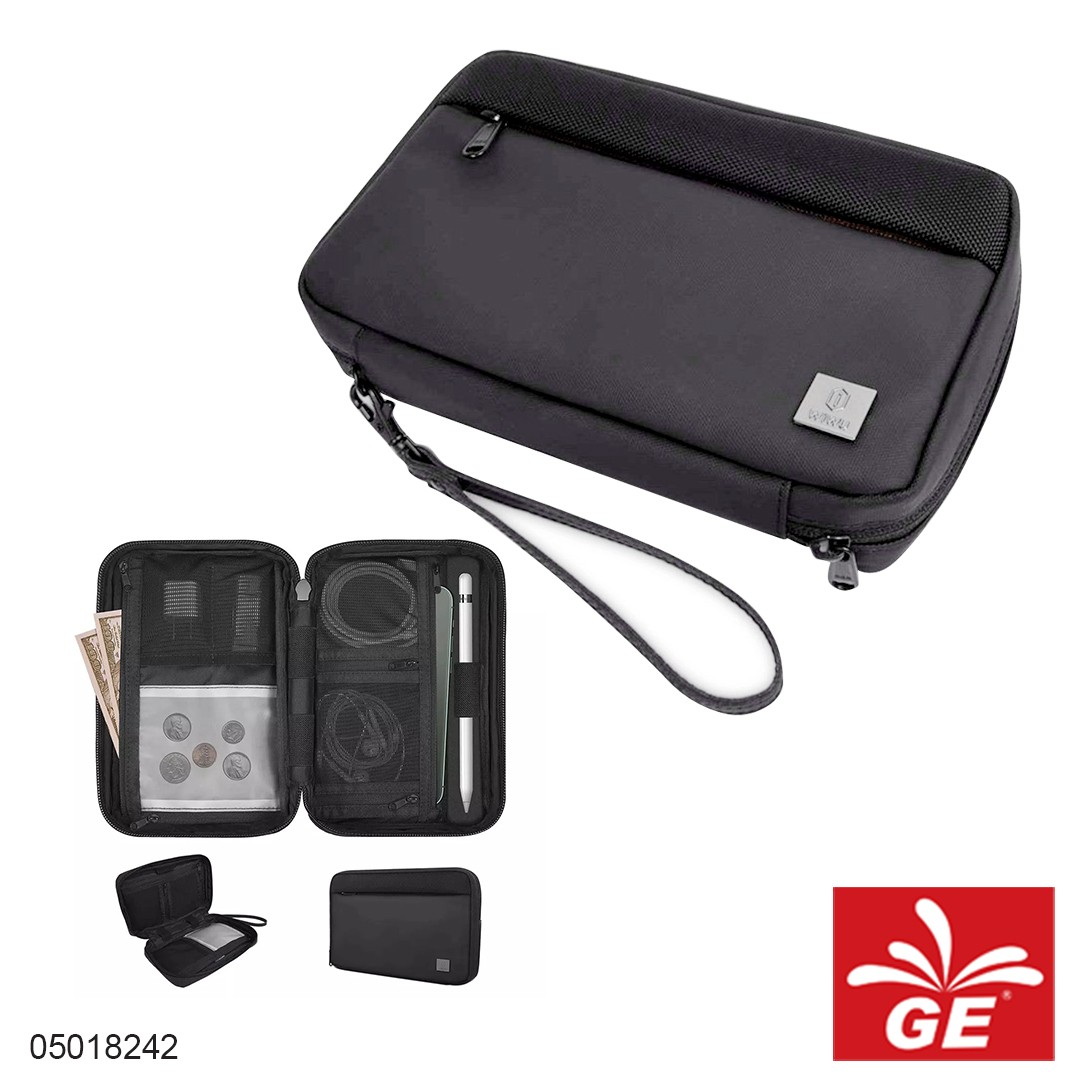 Tas Kabel Charger WIWU Pouch Solo Hitam 05018242