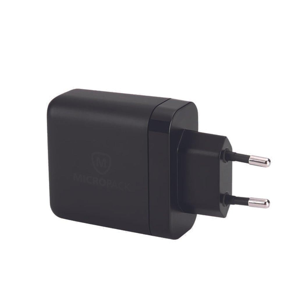 Adaptor MICROPACK MWC-224S Fast Charge Wall Charger Hitam