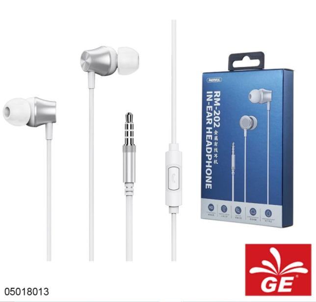Earphone REMAX RM-202 In-Ear Headphone 05018013/14