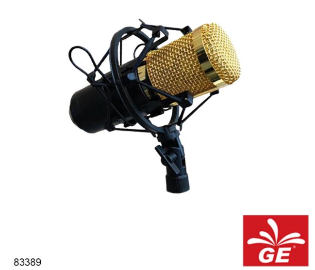 Mikrofon KREZT BM-900KZT Wired Condenser Microphone Emas/Silver