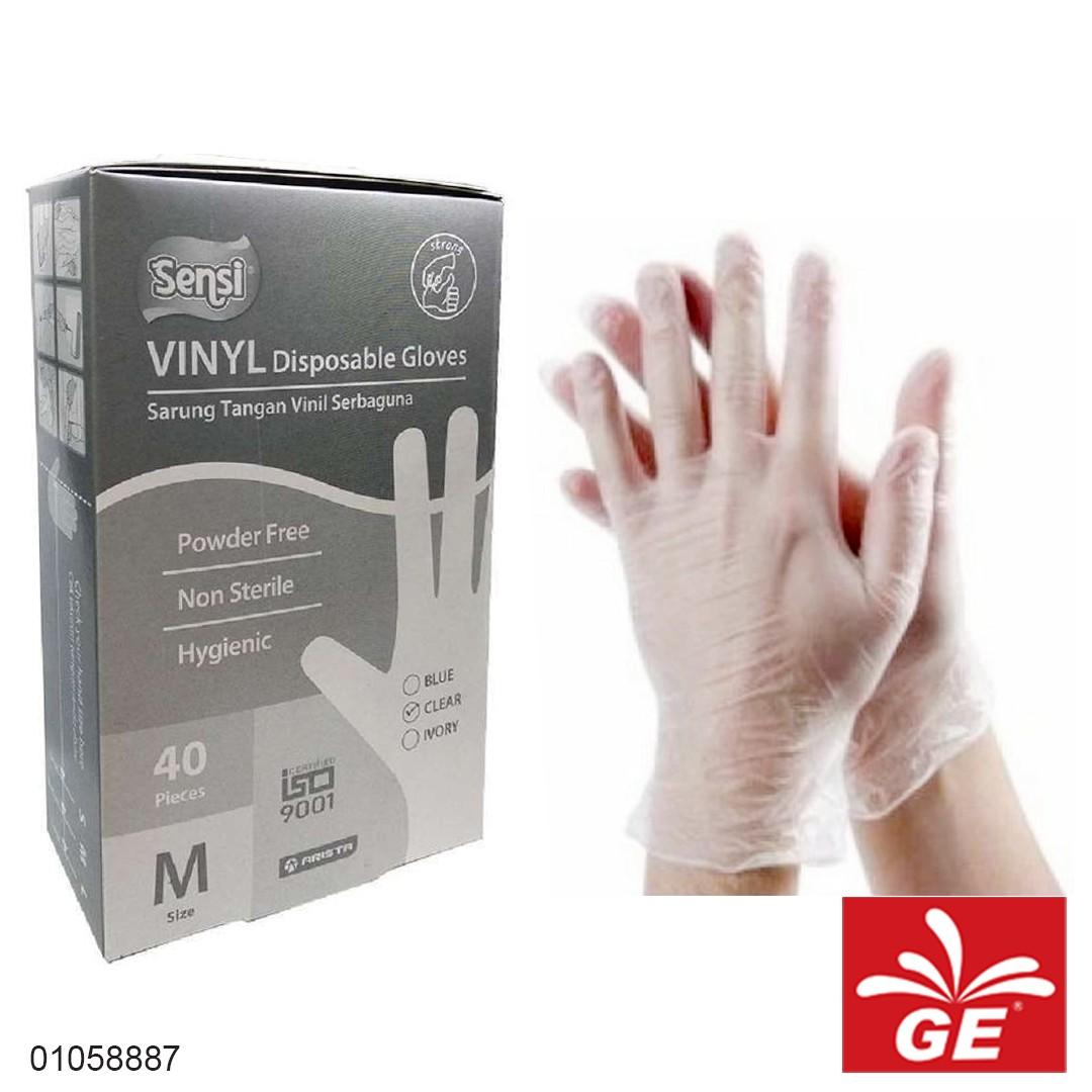 Sarung Tangan Vinyl SENSI M40 Disposable Gloves 01058887