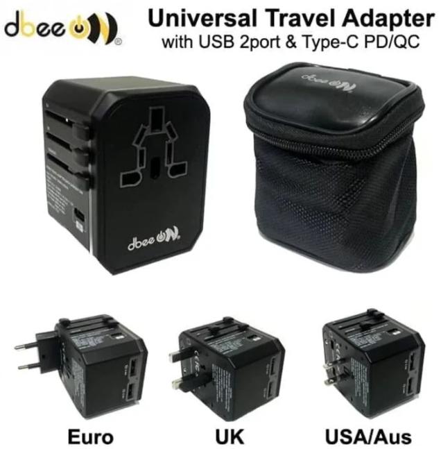 Adaptor DBEE TC-02 USB Travel Universal Hitam 21000343
