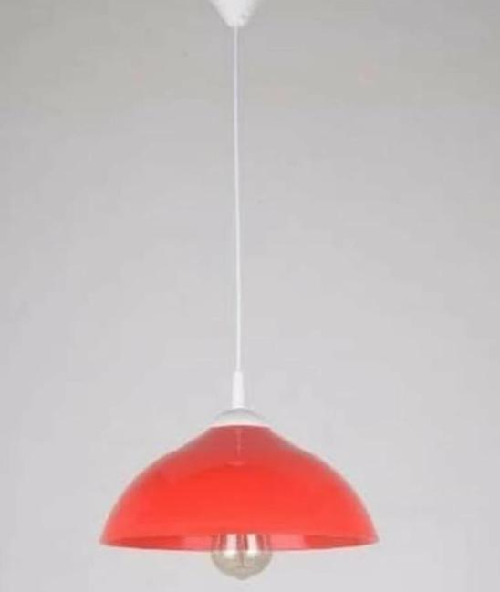 Kap Lampu LARKIN Carla Plastik 305mm E27 1m Merah/Hitam