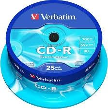 CD-R VERBATIM 25PCS